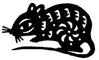 Ratte (Papierschnitt)